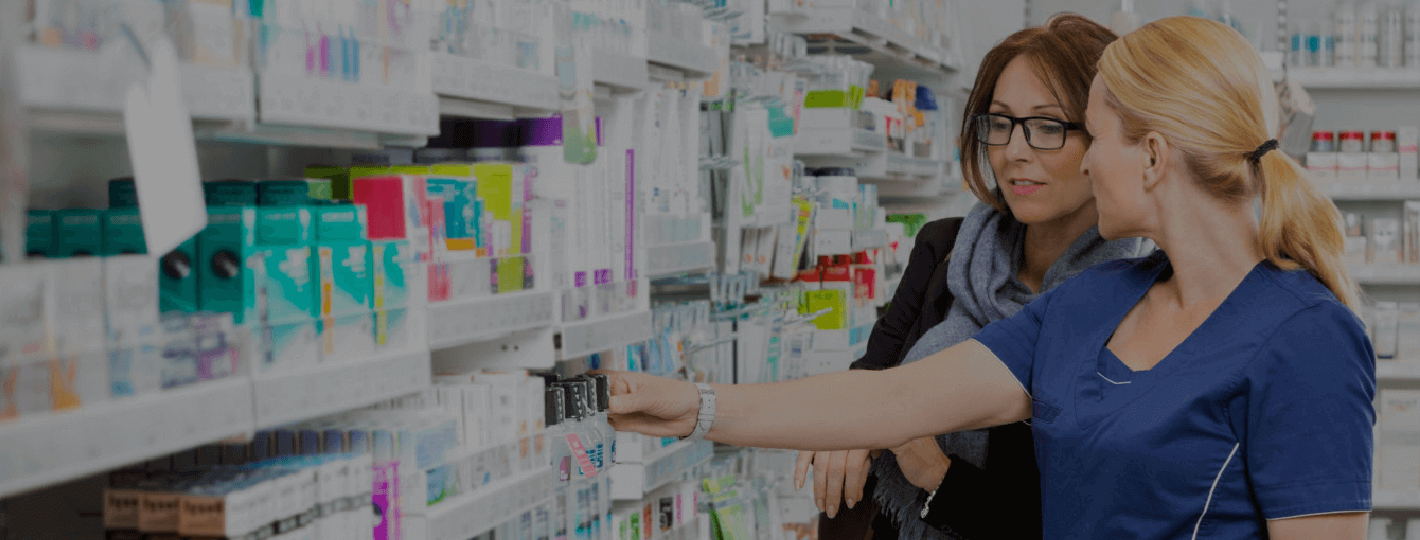 pharmacist assisting a customer